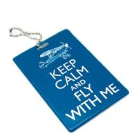 """Бирка на багаж """"Keep calm & Fly with me"""""""