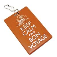 "Бирка на багаж ""Keep calm & Bon voyage"""