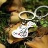"""Парные брелки """"Ключ к сердцу"""" для влюбленных"""