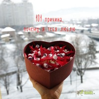 "Коробочка ""101 причина моей любви к тебе"""