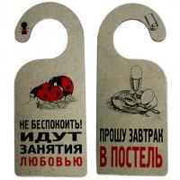 """Табличка """"ИДУТ ЗАНЯТИЯ ЛЮБОВЬЮ"""""""